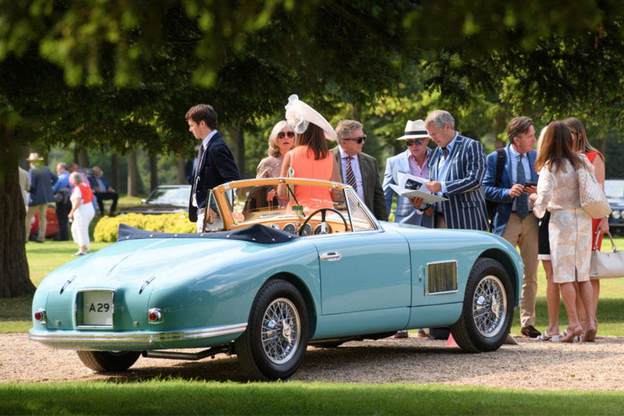 An image of cars at the Concours of Elegance Car Show - book a chauffeur to this event from GandT Executive
