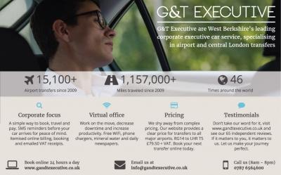 An image of GandT's advert in West Berkshires Round & About magazine.